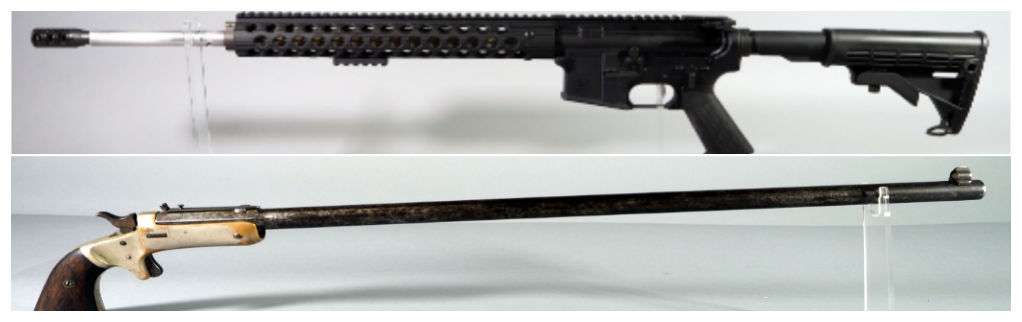 Palmetto State Armory PA-15 Rifle and J. Stevens Tip-Up Pistol