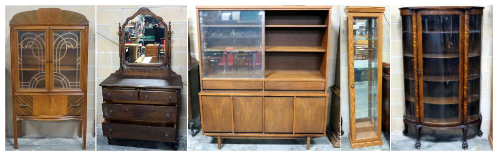 wooden chests and dressers