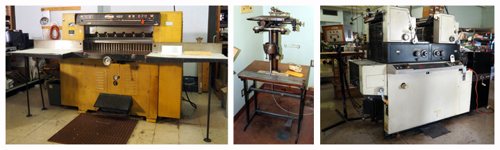 printing and ingraving tools and machines