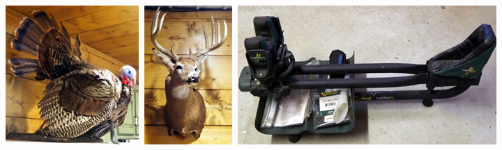Taxidermy Wild Tom Turkey Mount, Taxidermy 11 Point White Tail Deer Wall Mount and more