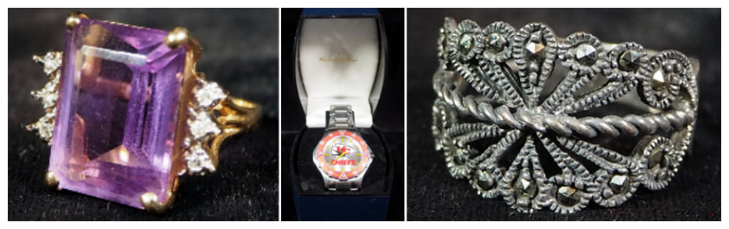 ring and Kansas City Chiefs watch