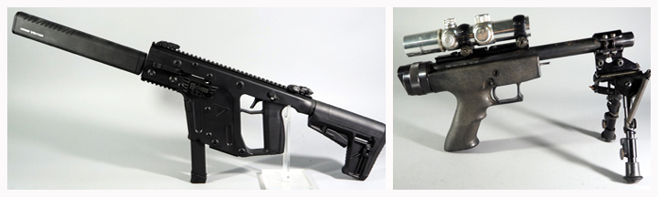 Kriss Vector CRB Gen II Rifle and Magnum Research Lone Eagle Pistol