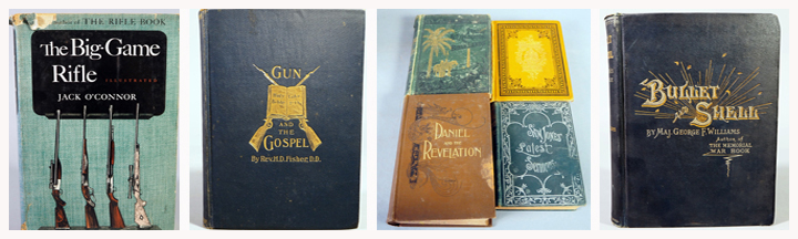 Books: The Big Game Rifle By Jack O'Connor, The Gun And The Gospel By Chaplin Fisher, Vintage Religious Books