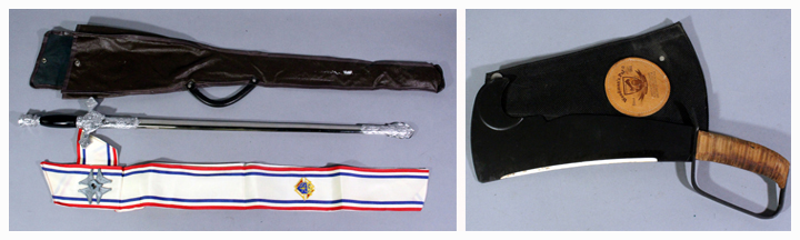 Knights of Columbus ceremonial sword and knife