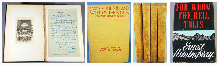 Books: Pickwick Papers With Hand Written Letter By Charles Dickens, East Of The Sun And West Of The Moon