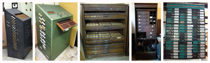 engraving type shelves and chests