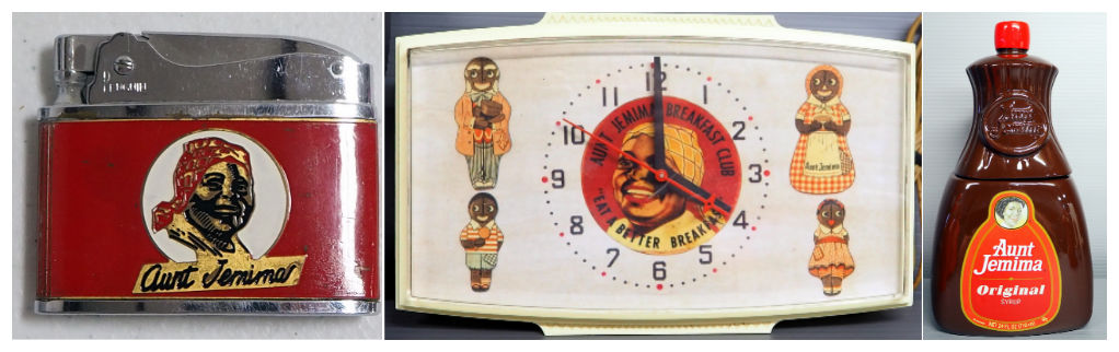 Aunt Jemima Collectibles, Aunt Jemima Tabletop/Wall Hanging Clock, Aunt Jemima Syrup Ceramic Cookie Jar, and much more!