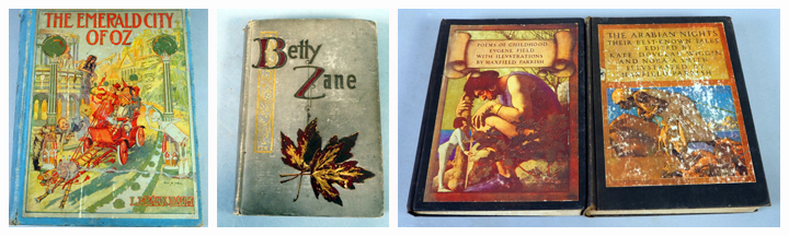 Books: The Emerald City Of Oz By L. Frank Baum, Betty Zane By Zane Grey, Poems Of Childhood And The Arabian Nights