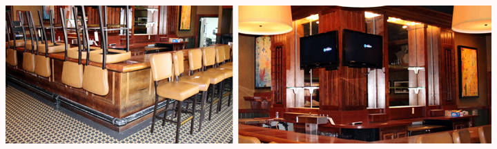 restaurant furniture and bar