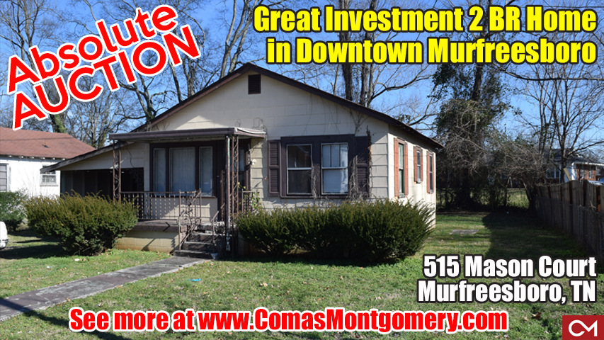 Comas, Montgomery, Auction, Real Estate, Investment, House, Home, For Sale, Downtown