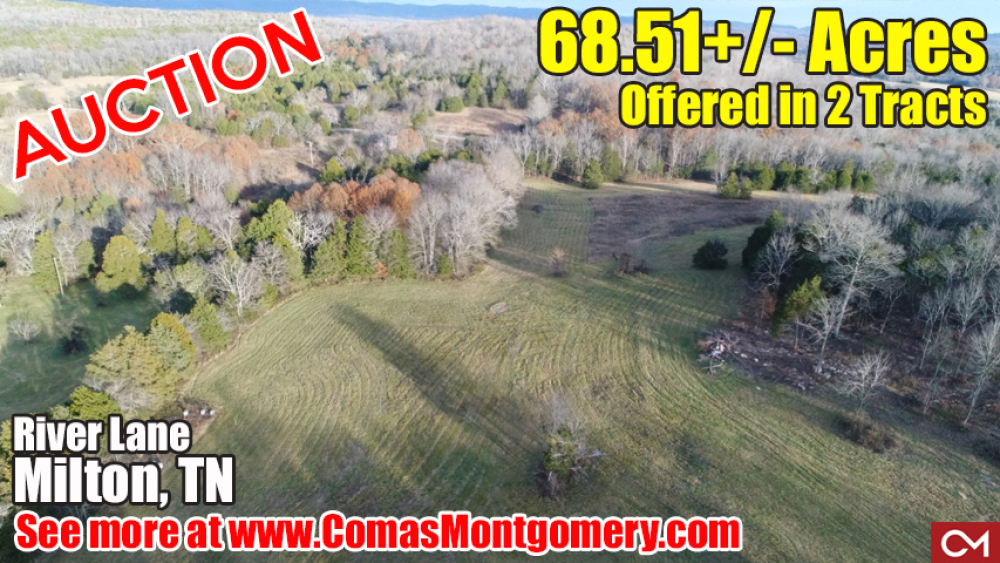 Auction, Land, Property, Real Estate, Acres, Soil Site, Tract, For Sale, Investment, Build, Farm, Home, House, Milton, Rutherford, Murfreesboro, Nashville, Comas, Montgomery