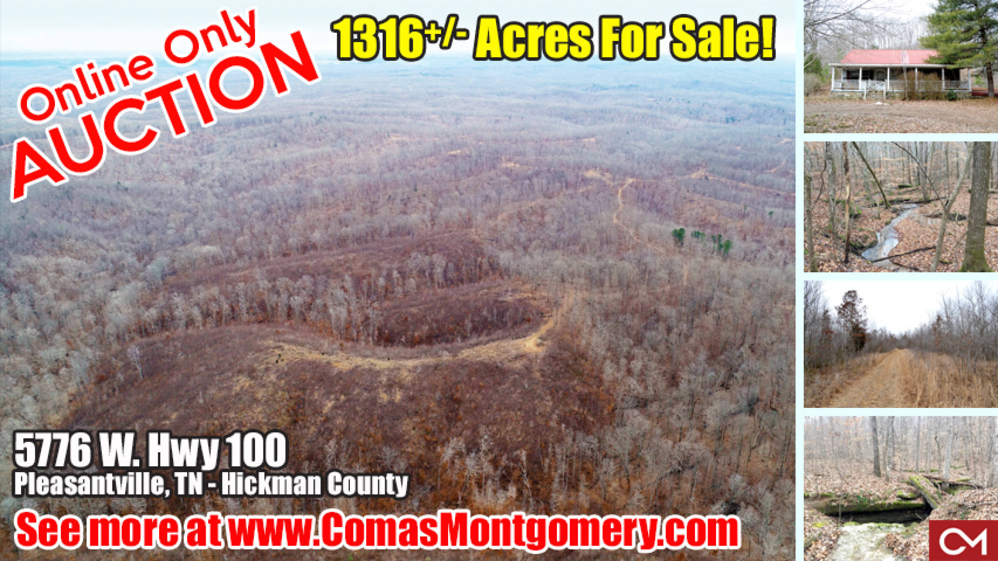 1318, Acres, For Sale, Land, Hunting, Horse, Equestrian, Farm, Recreation, Cabin, Hunt, Investment, Hickman, County, Pleasantville, Tennessee, Comas, Montgomery