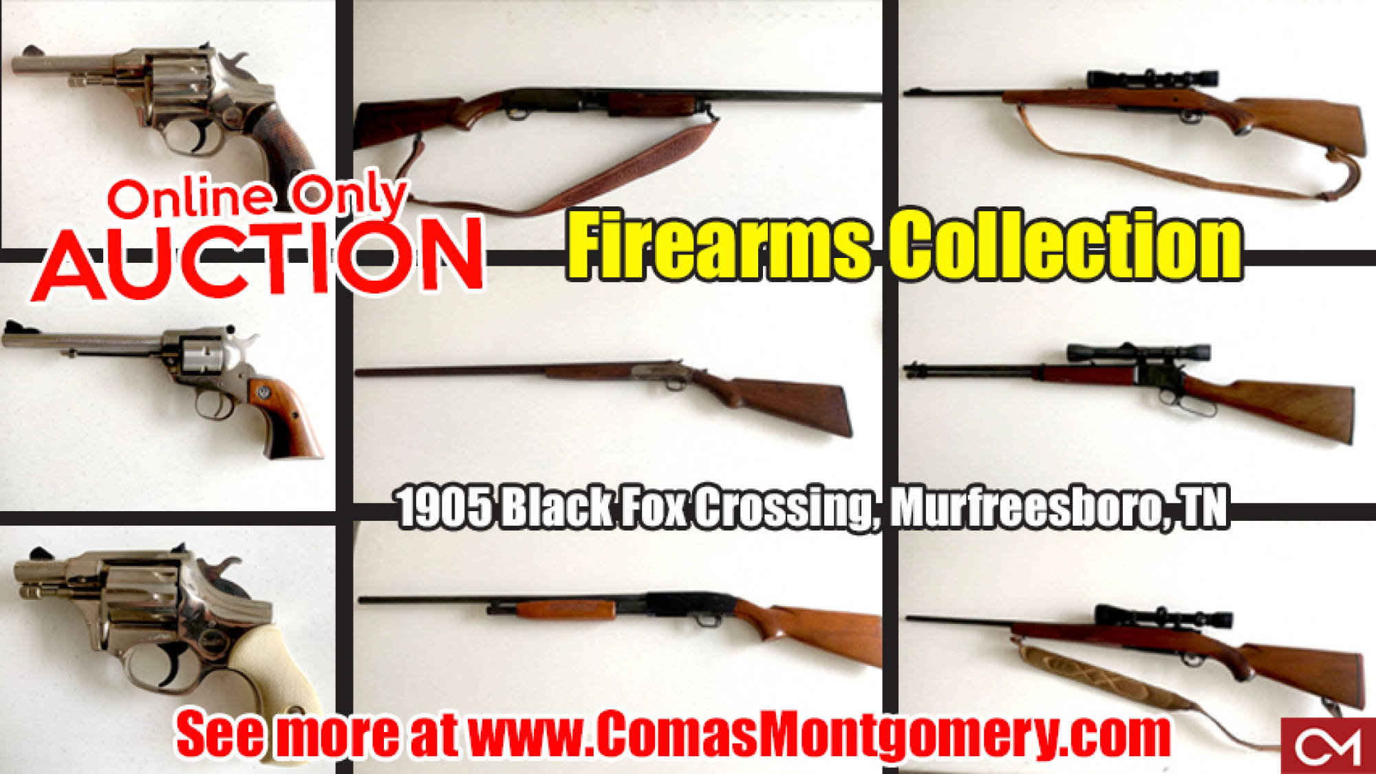 Firearms, Guns, For Sale, Auction, Estate, Online, Pistol, Revolver, Rifle, Comas, Montgomery