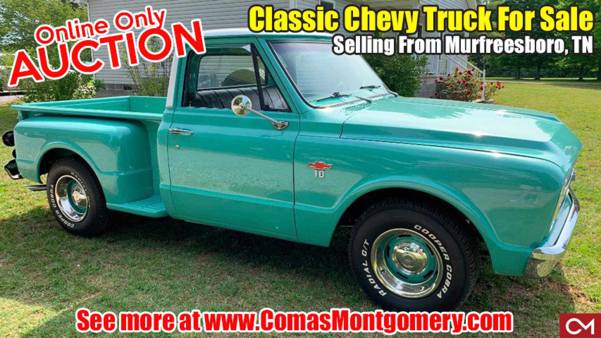 Chevy, Chevrolet, Truck, Automobile, Auto, Car, Auction, For Sale, Vehicle, Classic, Restored, 1967, C10, Murfreesboro, Tennessee, Comas, Montgomery