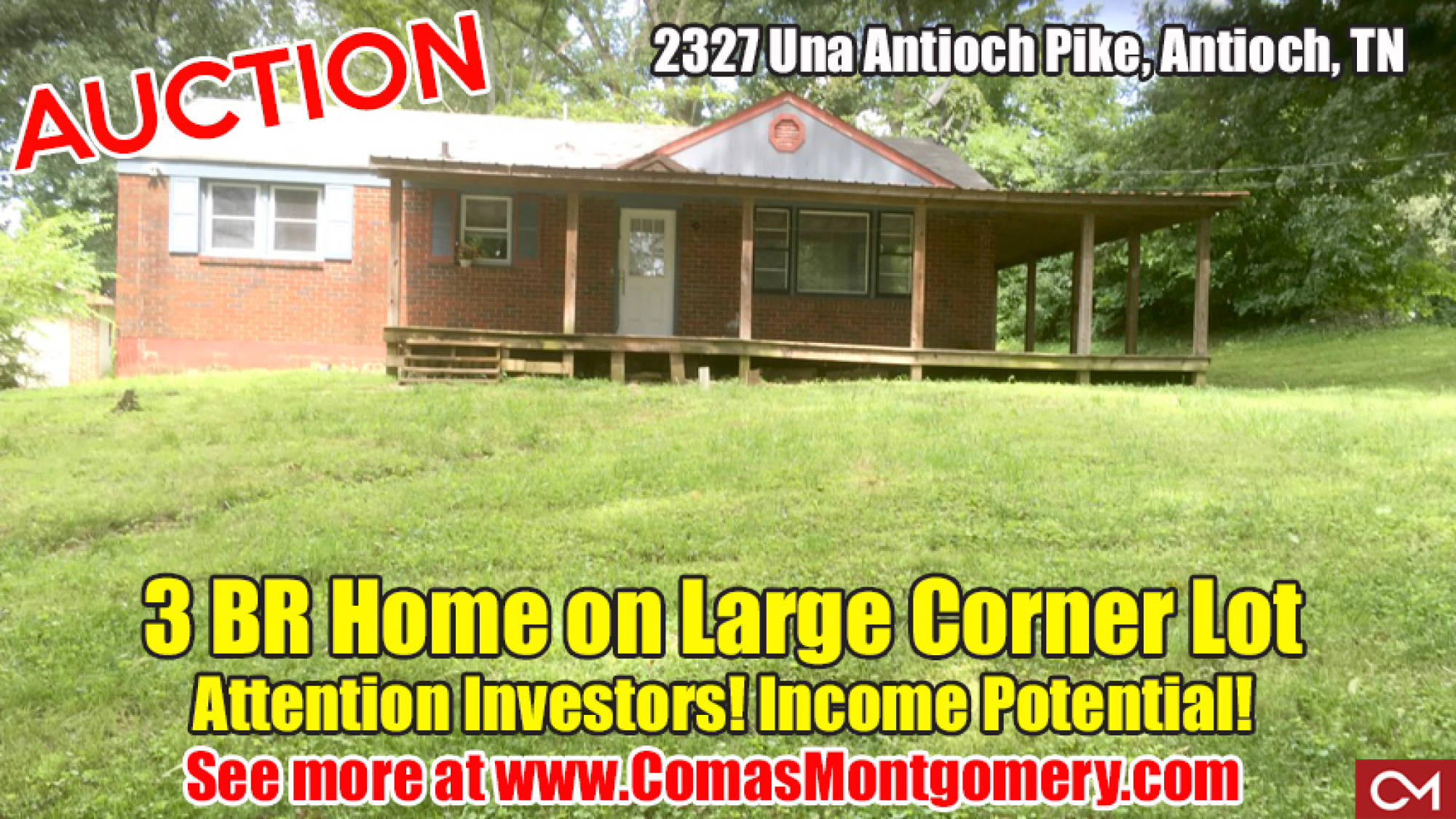 house, home, anitoch, income, investment, real estate, auction, tennessee, comas, montgomery