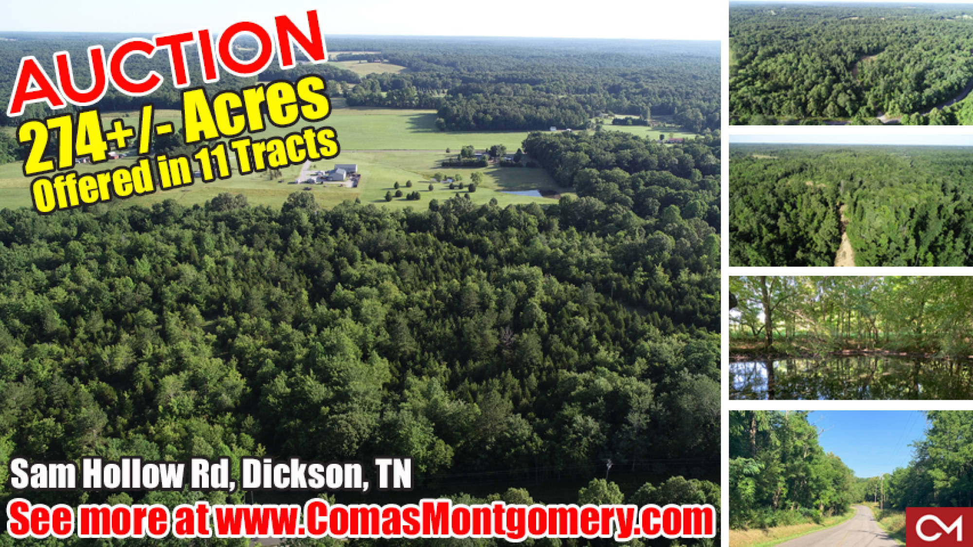 Land, Farm, Acres, For Sale, Dickson, Tennessee, Real Estate, Auction, Build, New Home, Soil Site, Nashville, Comas, Montgomery