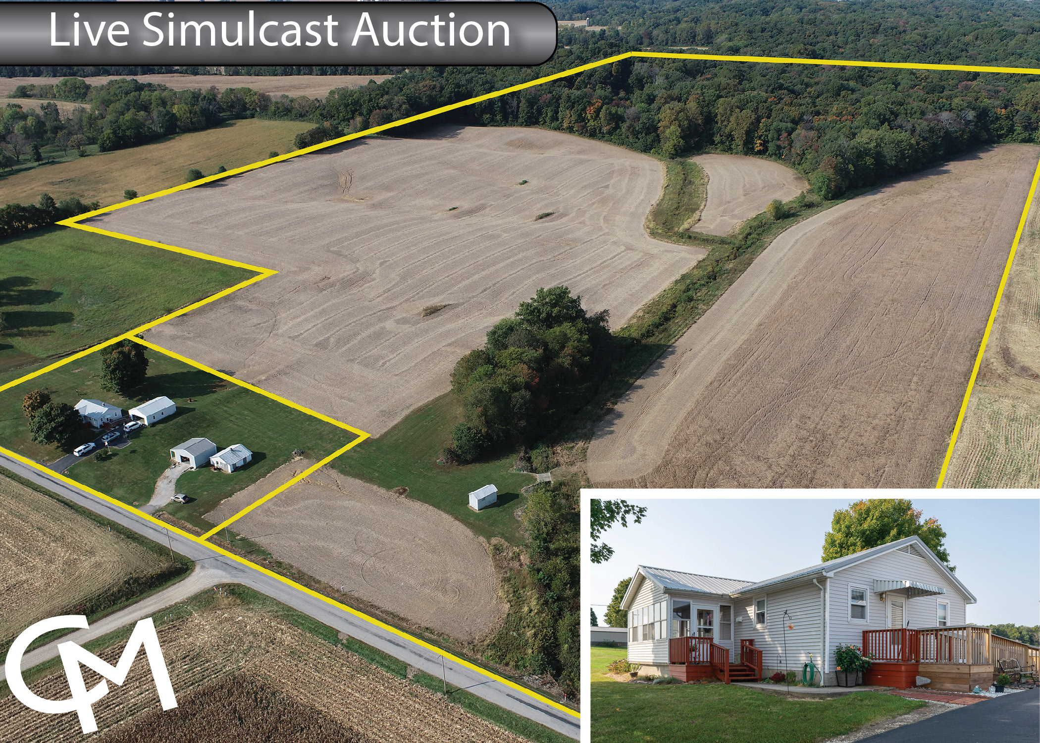 Gibson County, Land Auction, Home for Sale, Francisco Indiana
