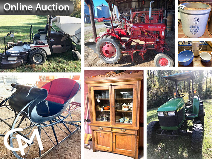 Grasshopper Mower, John Deere & Farmall Tractors, Primitives, Furniture, & Collectibles Auction | Evansville, Indiana