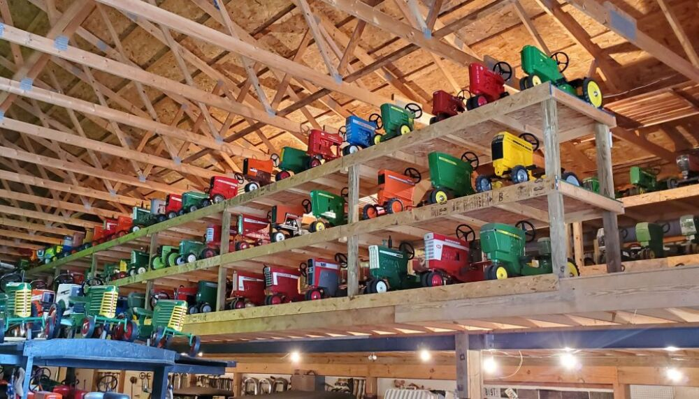 Over 800 Pedal Tractors From The Fisher Collection Sold At Auction photo