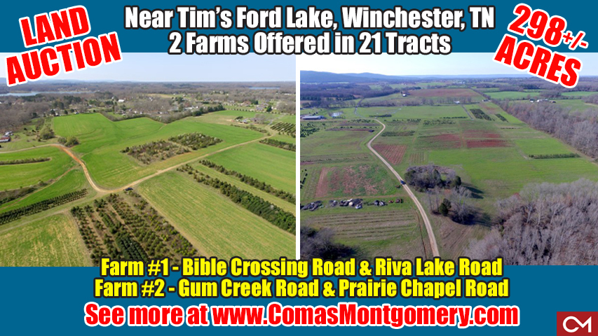 Bible, Crossing, Riva, Lake, Road, Winchester, Tennessee, Farm, Land, Acres, Tracts, For Sale, Tim, Tim�s, Ford, Auction, Real Estate, Development, Investment, Potential, Dechard, Estill Springs, Comas, Montgomery