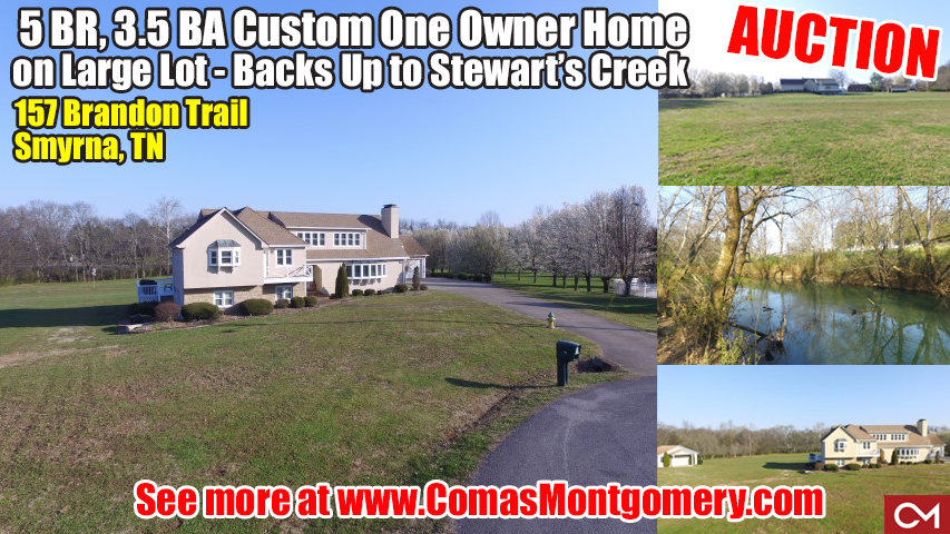 Smyrna, Real Estate, Home, House, For Sale, Auction, Stewart's Creek, Nissan, Tennessee, Murfreesboro, Nashville, 5 Bedrooms, Comas, Montgomery