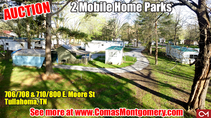 mobile, home, park, lots, land, investment, tennessee, tullahoma, coffee, county, real estate, auction, comas, montgomery