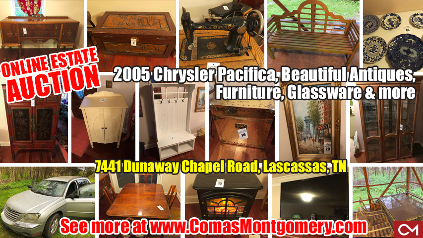 Estate, Auction, Sale, Personal, Property, Furniture, Antiques, For Sale, Car, Used, Chrysler, Lascassas, Murfreesboro, Smyrna, Tennessee, Comas, Montgomery