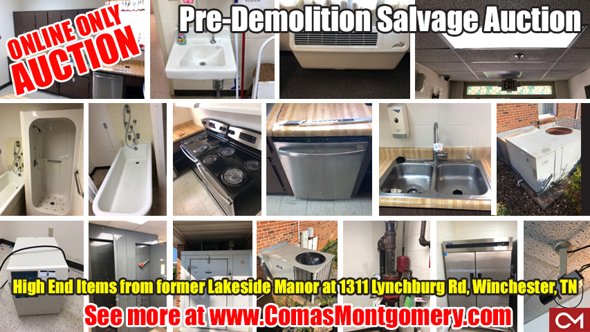Auction, Medical, Equipment, Elderly, Home, Aged, Nursing Home, Nursing Facility, Toilets, Sinks, Showers, Tubs, Supplies, Accessories, Winchester, Tennessee, Salvage, Comas, Montgomery