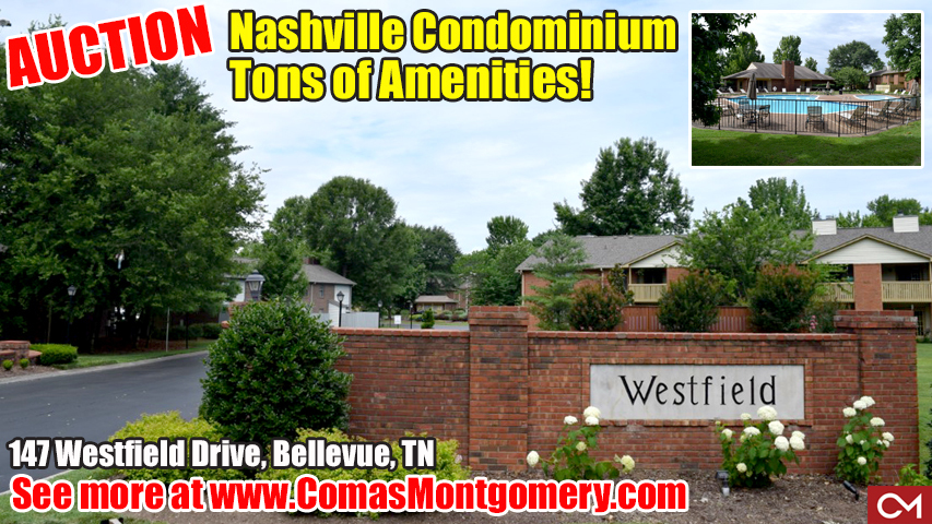 Condo, Condominium, For Sale, Real Estate, Home, House, Bellevue, One Bellevue Place, Bellevue Mall, I-40, Nashville, Nashville Condo, Bellevue Condo, Auction, Tennessee, Comas, Montgomery