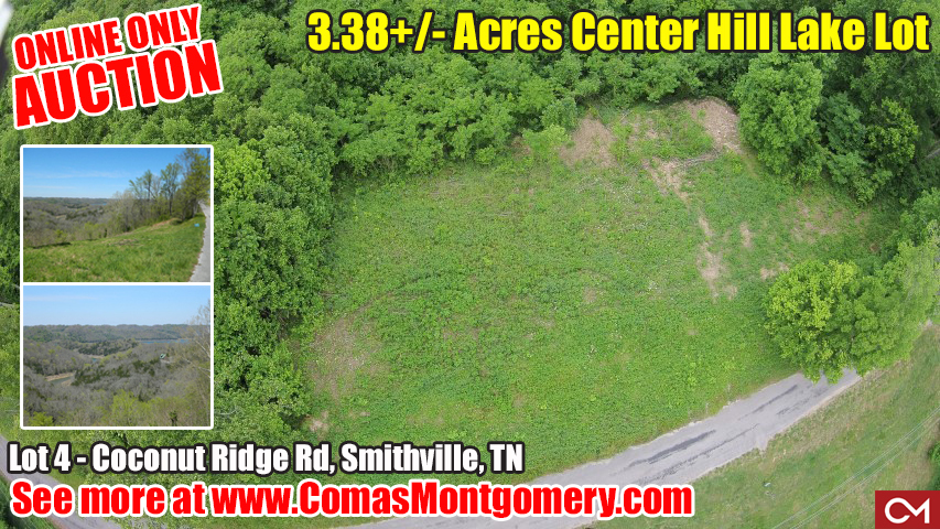 Center Hill, Lake Lot, Lake, Build, Dream, Home, House, Lakehouse, Smithville, Tennessee, Online, Auction, Investment, Property, Comas, Montgomery