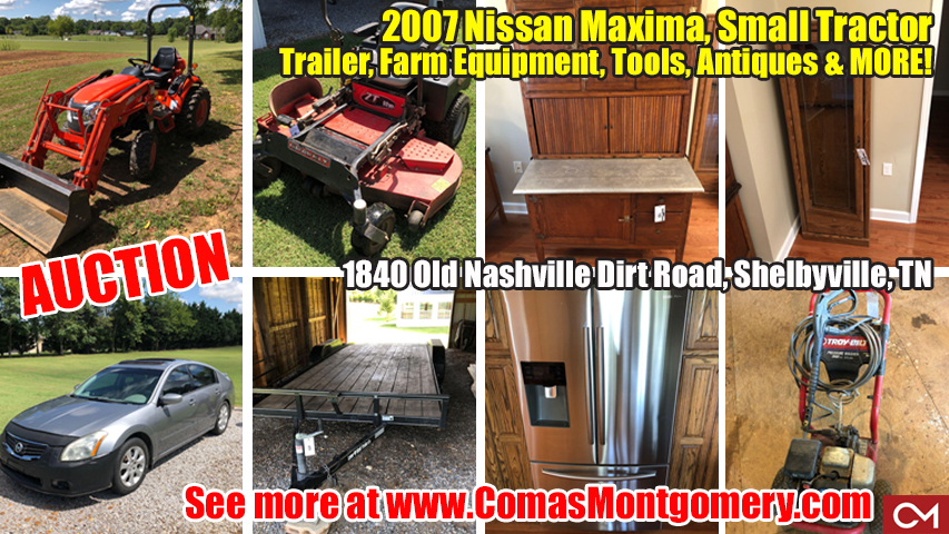 Used, Car, Farm, Equipment, Nissan, Maxima, Automobile, For Sale, Kubota, Tractor, Antiques, Tools, Shelbyville, Tennessee, Comas, Montgomery