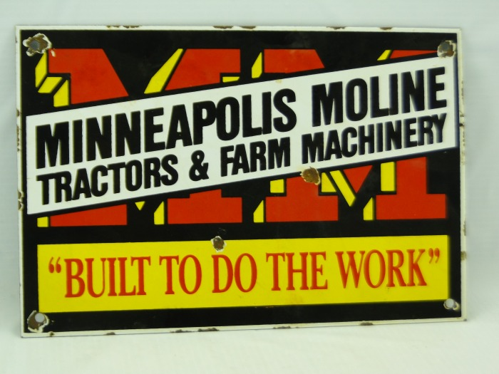Minneapolis Moline LARGE SIZE 12 X 16 FIRST JEEP MODEL New Metal Sign