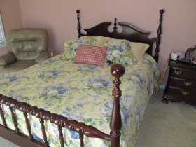 Bed by Sumter Cabinet
