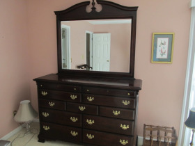 Chest w/ mirror by Sumter Cabinet