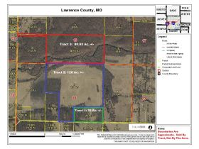 220 Ac. +/- In Beautiful Southwest Missouri - Pasture & Timber With Several Buildings, Being Offered In Three Tracts & Sells With No Reserve or Minimum featured photo 3