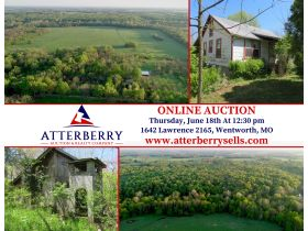 220 Ac. +/- In Beautiful Southwest Missouri - Pasture & Timber With Several Buildings, Being Offered In Three Tracts & Sells With No Reserve or Minimum featured photo 2