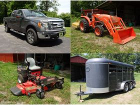 FORD F150 - TRACTOR - ZTR MOWER - STOCK TRAILER - LOWBOY - MACHINERY - MODEL A - CARS - BACKHOE -TOOLS - HOME GOODS - Online Bidding Ends Tuesday, July 14 @ 5:00 PM EDT featured photo 1