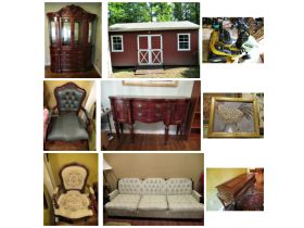 Portable Building, Riding Mower, Furniture, Tools, Etc at Absolute Online Auction featured photo 1