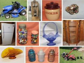 Dixon Riding Mower, Antique Furniture, Pocket Watches, Collectible Glass & More! featured photo 1