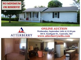 Move-In Ready, One Level Home Will Sell To High Bidder, 504 E. Southgate St., Centralia, MO featured photo 2