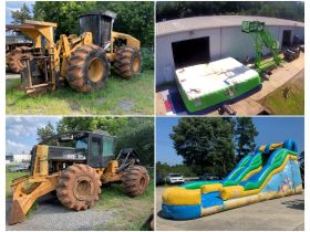 Bank Ordered Business Liquidations - Logging Equipment, Electrical Supply Business & Party Rental Jumpy Houses featured photo 1