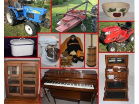 Tractor, Wood Working Tools, Antique Furniture, Riding Lawn Mower, Pottery Pieces, & More! featured photo 1