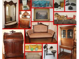 Antique Furniture, Glass & Vintage Collectibles, Paintings by Paul Ritter, Wellington Piano, & Coins! featured photo 1