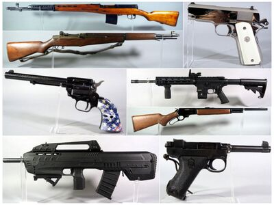 montage of gun photos