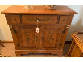 """Cabinet with """"Painted"""" Design"""