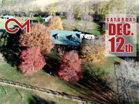 AUCTION featuring 3 BR, 2 BA Log Home on 4.5+/- Acres with Open Floorplan, Large Rec Room, Expansive Deck and Barn featured photo 1