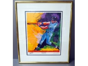 painting of baseball player