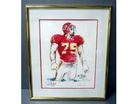 painting of football player
