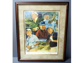 painting of golfers