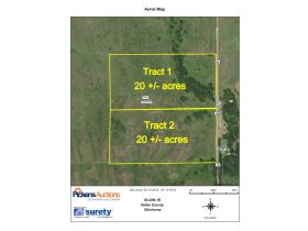 NOBLE COUNTY, OK LAND AUCTION-Lake McMurtry/HWY 86 Area-40 Acres offered in 2-20 Acre tracts and in Combination featured photo 1